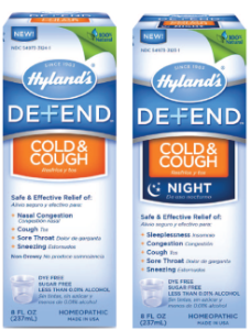 Hyland's DEFEND Cold & Cough Night 8oz syrup